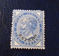 "ITALIA,ITALY 1878-79 LEVANTE Em.Generali ""RE V.Emanuele SVR ESTERO"" 10c. MH*"