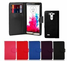 PU LEATHER BOOK WALLET FLIP CASE COVER FOR LG G2 G3 G3MINI G2 MINI