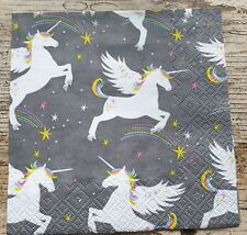 4 x Decoupage napkins unicorn kids