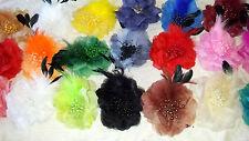 Joblot 20 pcs Feather & Faux silk Flower Hairclip/brooch NEW wholesale Lot 5