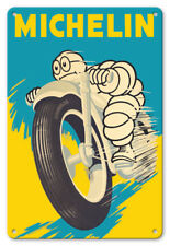 Michelin Man Motorbike Tires 1959 - 8in x 12in Vintage Metal Sign