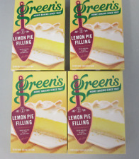 "4 Boxes of Green's Lemon Pie Filling Mix Makes 8 x 7"" Fillings 2 per Box"