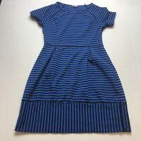 Pixely Stitch Fix Black Blue Short Sleeve Dress Sz M A200