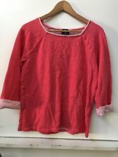 Jones New York Sport Women's Red Boat Neck Sweatshirt Top Studded L Large