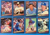 (8) 1986 Donruss Baseball Card Lot Cal Ripken Jr. Paul O'Neil Ozzie Guillen RCs