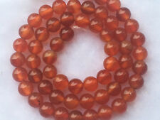 new  6mm Orange Red Carnelian Natural Agate Loose Gemstone Round Beads 15""
