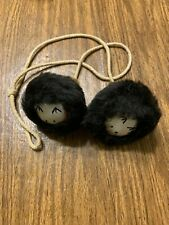 "Real Fur Yoyo Balls ~ Inuit ~ Native American ~ Eskimo  ~ 3"" in Diameter"