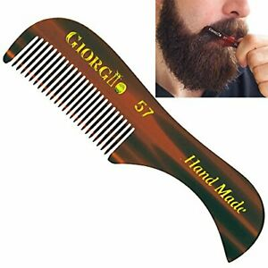 Giorgio G57 Extra Small 2.75 Inch Men's Fine Toothed Beard and Mustache Comb ...