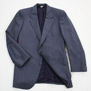 Brioni Mens 100% Wool 2 Button Blazer Sport Coat Gray Herringbone Size 40R