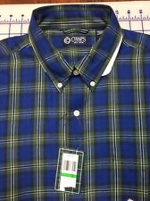 Chaps Mens  Plaid Button Front Long Sleeve Shirt Size L Large Casual NWT