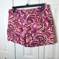Merona Pink and Purple Printed Shorts Size 12