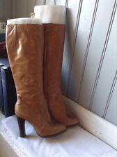 belles bottes vintage plein cuir camel verni . t 37,5 (SB36 /AZ)