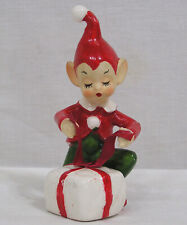 Vintage Christmas Josef Original Pixie Figurine Wrapping Gift Japan 1950s