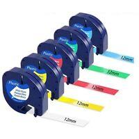 5 Piezas 91201 12 Mm Compatible con Cinta Dymo Letratag Cinta de Etiquetas W8B3