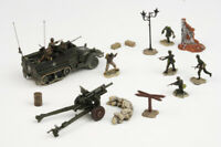 85048 Forces of Valor M3 Half-Track 1/72 Model US Army w/8 Figures and Howitzer