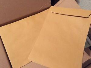 1-400 Versandtaschen C4 braun Umschlag Umschläge für A4 haftklebend ohne Fenster