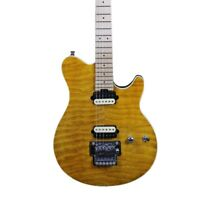 Electric Guitar Quilted Maple Top FR Bridge Zebra Pickups Solid Body HH Pickups
