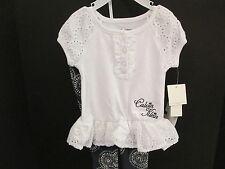 Calvin Klein Baby White Eyelet Tunic and Legging Set, Size 3-6 Months, NWT