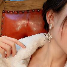 Fashion Drop Long Dangle Earrings Newly Women Lady Pentagram Rhinestone Crystal