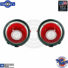 70-71 Camaro Back Up Reverse Tail Light Lamp Lens (with RS Trim) USA Made PAIR