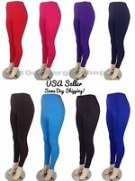 Women's Winter Fleece Lined Thick Thermal Solid Leggings Jeggings M/L & XL/XXL