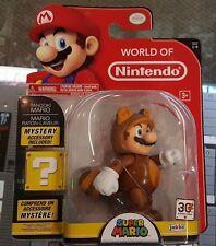 """Tanooki Mario 4"""" Jakks Pacific World of Nintendo Action Figure"""