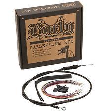 """Burly Brand 13"""" Ape Hanger Cable Kit For Harley-Davidson FLHX, FLHT/C/U 08-13"""