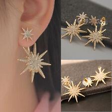 1PC Women Lady Crystal Rhinestone Dangle Gold Earring Star Ear Stud Jewelry L7