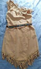 Adult Ladies Native American Pocahontas Costume Wild West Fancy Dress  Cartoon