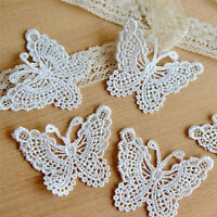 Butterfly Lace Patches Embroidery Wedding Applique Trim Clothing Accessories、FO