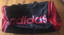 Adidas Large Black & Red Duffle Sports Gym Tote Bag