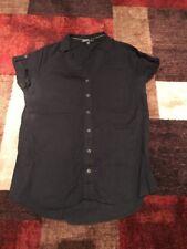 VELVET HEART Women's Fashion Blouse Black Button-Up Shirt M