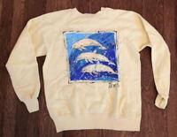 Vintage 80s Tampa Florida Dolphin Fish 1980s Travel Crewneck Sweatshirt Large