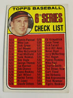 1969 Brooks Robinson # 504 Checklist 6th Series Baltimore Orioles Topps Baseball