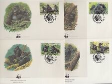 RWANDA 1985 WWF GORILLAS FDC's (x4) (ID:563/D39747)
