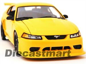 2000 FORD MUSTANG SVT COBRA 1:18 DIECAST MODEL CAR by MAISTO 31872 YELLOW NEW