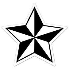 "Nautical Star Black White car bumper sticker decal 4"" x 4"""