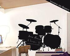 Adesivi Murali Lavagna Adesiva Adesivo Wall Sticker Gioco Bimbi Batteria Musica