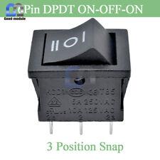 [2PCS] 6 Pin DPDT ON/OFF/ON 3 Position Snap Boat Rocker Switch 6A 250V 10A 125V