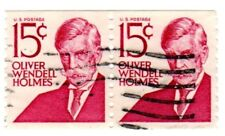 US STAMPS     #1305E  PAIR   .15 OLIVER WENDELL HOLMES 1978 - USED