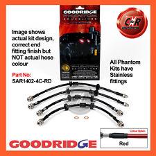 Alfa Romeo 156 GTA 3.2 V6 03 on Goodridge SS Red Brake Hoses SAR1402-4C-RD
