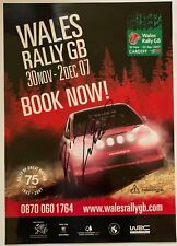 Jari Matti Latvala Hand Signed Welsh Rally Poster Rare Wales GB 2007.