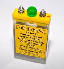 1x Varta Nickel Cadmium Batterie // Akku 1,2V 4Ah // NEU // Ex. Bundeswehr BW