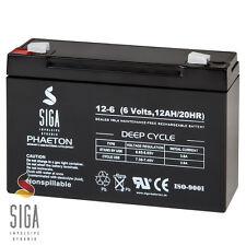 Akku 12Ah 6V Gel Batterie NP12-6 NP10-6 Aroma 3-FM-10 Famosa Feber Smoby 10Ah