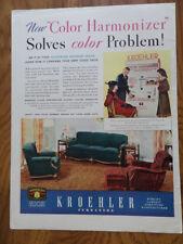 1939 Kroehler Furniture Ad Living-Room    Color Harmonizer