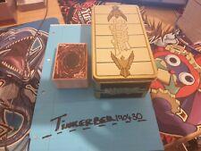 YUGIOH PACK BUNDLE 100 CARDS INC 20+ RARE TO ULTRA + GOLD SARCOPHAGUS MEGA TIN.