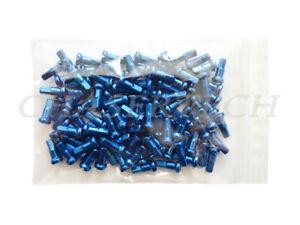 "MTB Road BMX Bike 7075 Alloy Spoke Nipples 2.0mm 14G 1/2"" 72 Pcs Blue"