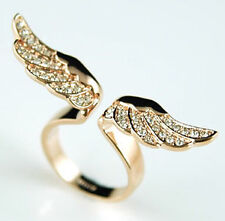 Fashion Rhinestone Angel Wings Finger Ring UNIQUE GIFT for Women Girls Jewelry
