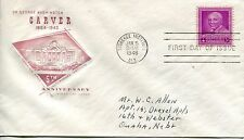 1948 GEORGE WASHINGTON CARVER HOUSE OF FARNUM CACHET  HAND ADDRESSED FDC