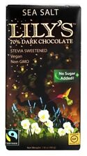 Lily's  Dark Chocolate with Stevia Sweetened Sea Salt Bar, 2.8 Oz (6 Bars)